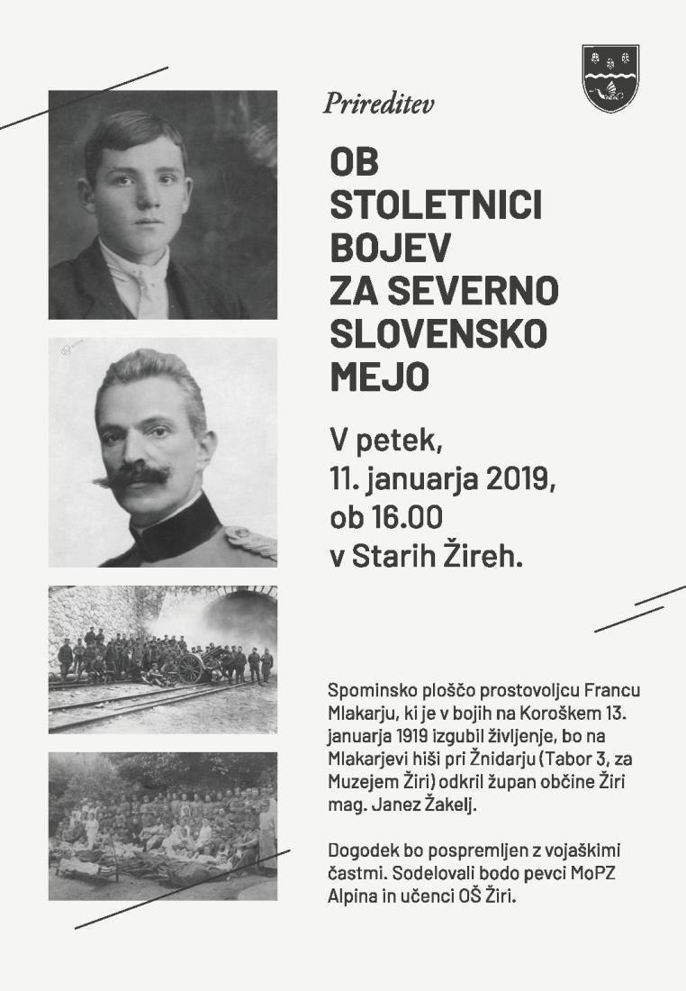 Ob stoletnici bojev za severno slovensko mejo